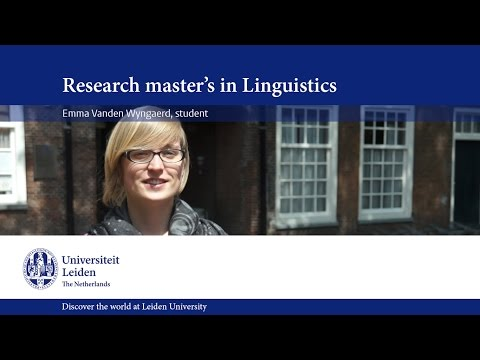 Emma about the Research Master's Linguistics at Leiden University