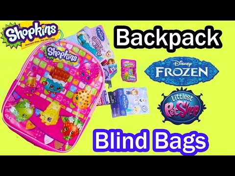 Shopkins Surprise Blind Bag Backpack Disney Frozen Mystery Minis Funko Season 2 LPS Video