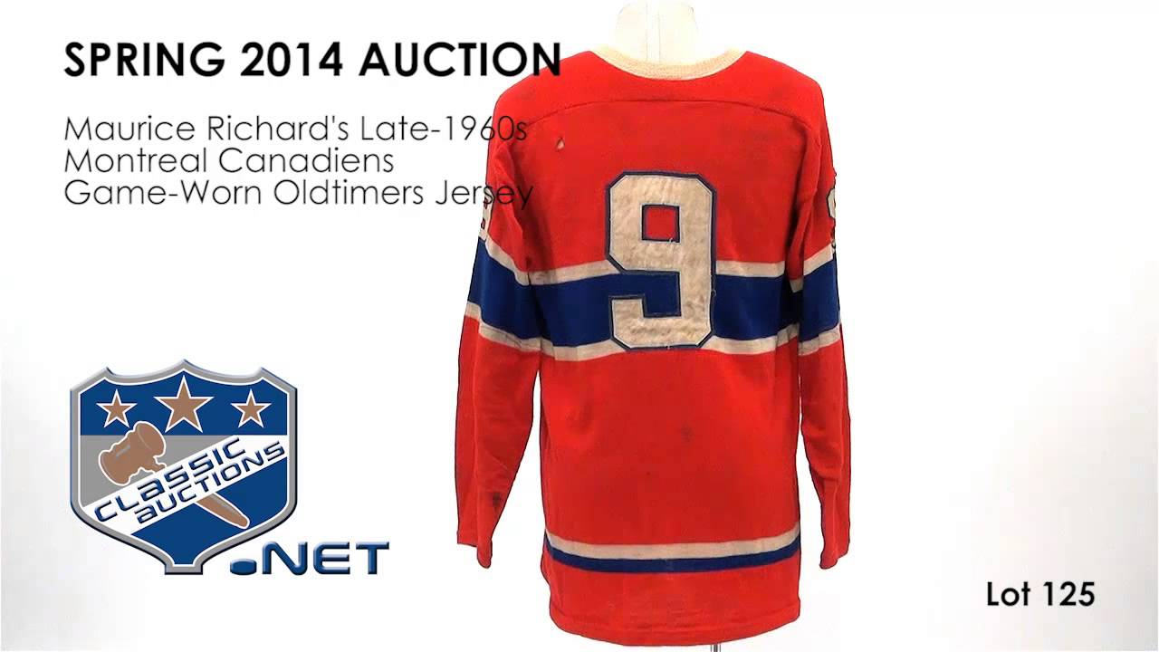 best service 625d9 857d4 Maurice Richard's Late-1960s Montreal Canadiens Game-Worn Oldtimers Jersey