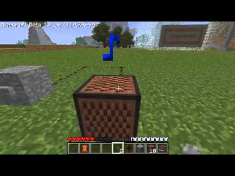 Minecraft - Music Player : AutoPlay full songs on 1 note block (mario demo)