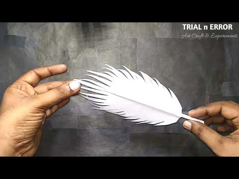 How to make paper feathers | Paper Cutting Art