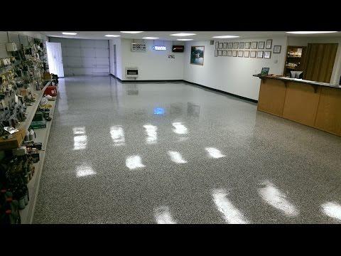 Concrete Resurfacing with Vinyl Chip Epoxy Garage Flooring System   Lake Ozark MO - Osage Beach MO