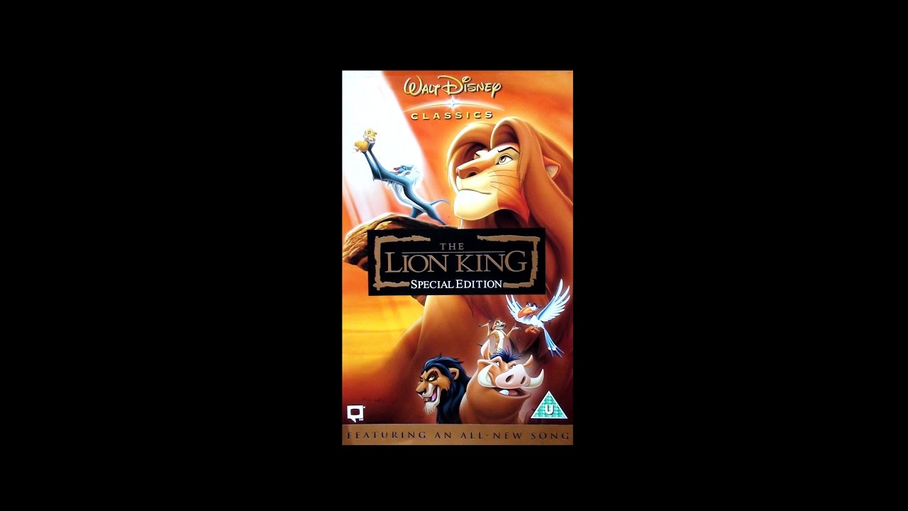 closing to the lion king special edition uk vhs  2003