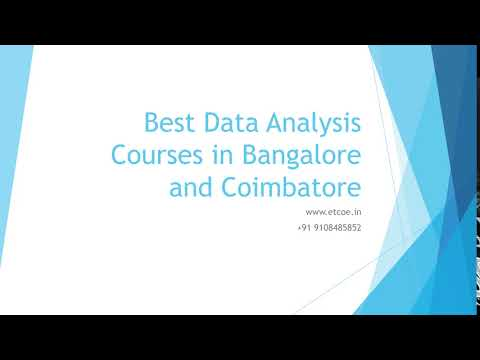 Best Data Analysis Courses in Bangalore and Coimbatore-etcoe.in
