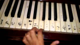 How to play on piano Omar Khairt kadyt am Ahmed