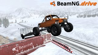 BeamNG.drive - SNOWY JUMPS