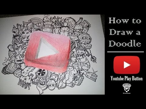 How To Draw A Doodle Youtube Play Button Speed Drawing Youtube