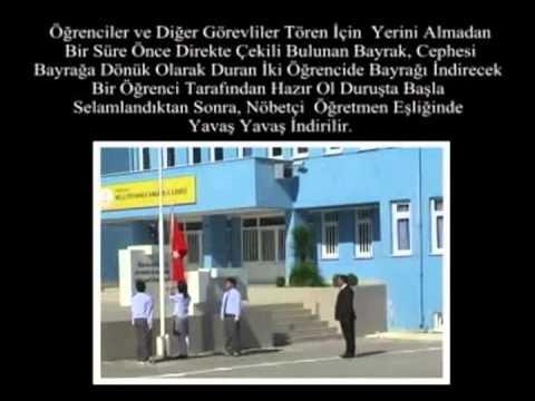 İstiklal Marşı Töreni-Tek Bayrak Direği Bulunan Okul/kurumlarda Bayrak Töreni