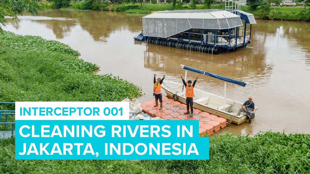 Cleaning River In Jakarta with Interceptor 001   Cleaning Rivers   The Ocean Cleanup