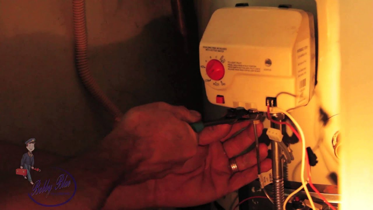 How To Change Out Water Heater Control Youtube Changing Thermostat On