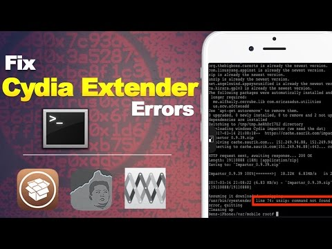 How to Fix Common Cydia Extender & mTerminal Errors | Fix iOS 10.2 Jailbreak Errors