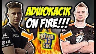 ADWOKACIK ON FIRE!!! BYALI SZALONE 4K, CLUTCH 1vs4, KAPER ACE - CSGO BEST MOMENTS