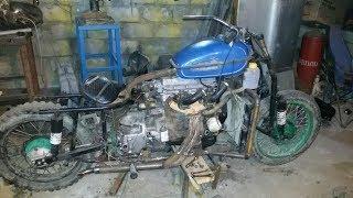 Мотоцикл c двигателем от Ваз 2109  Часть 7