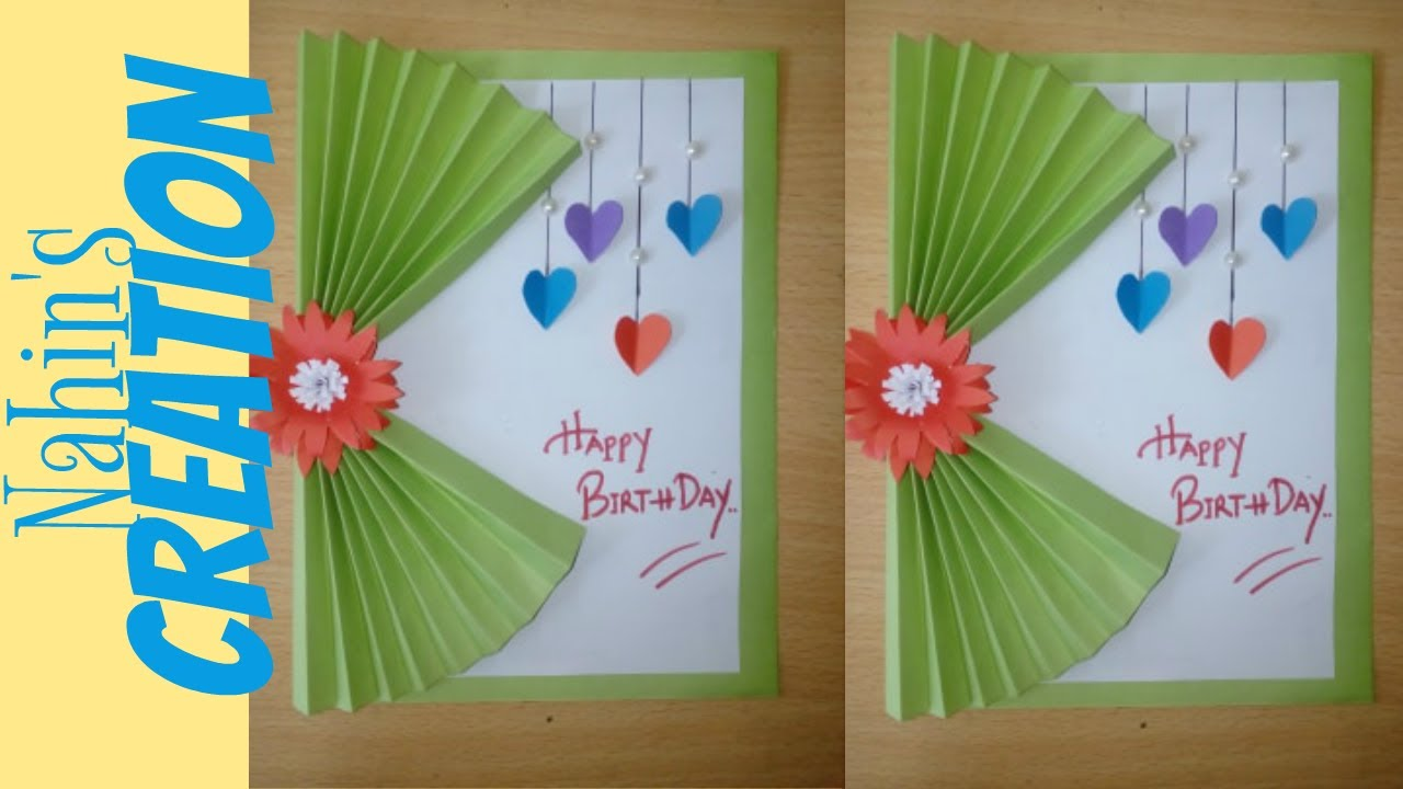 Birthday card making / Easy Steps to Make Birthday Card / How to make a Birthday Card