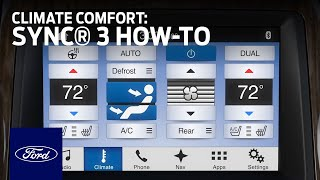 SYNC 3 Climate Comfort Adjustments | SYNC 3 How-To | Ford thumbnail