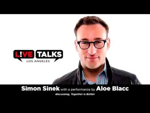 Simon Sinek followed by a performance by Aloe Blacc
