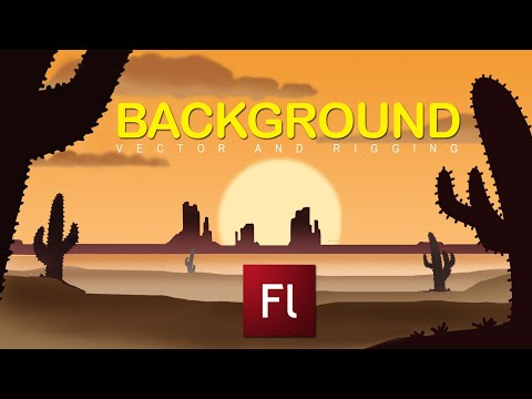 Flash Animation Tutorial-Background Creation