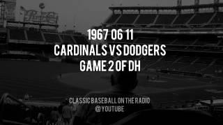 1967 06 11 St Louis Cardinals vs LA Dodgers Game 2 Of Doubleheader