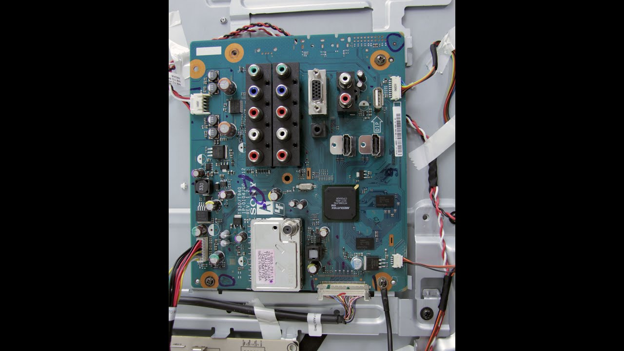 Lcd Tv Repair Has Audio No Video Common Main Board Symptoms Wiring Solutions Uk