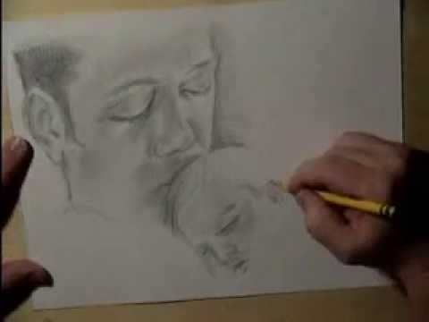 Artist Drawing baby realism \