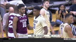 #8 Texas A&M vs Vanderbilt 2016 (Basketball Full Game)