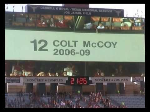 Colt McCoy Jersey Retirement