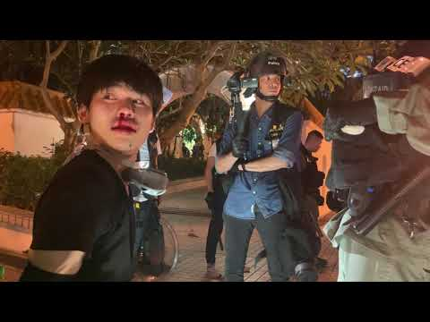 Teens arrested by Hong Kong riot police during Hong Kong protests