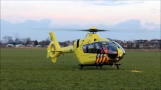 Vertrek Lifeliner 2 bij ongeval Vierpolders