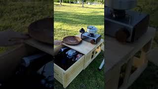 캠핑 트렁크 폴딩박스 감성 좌식테이블 나무 원목 우드 …