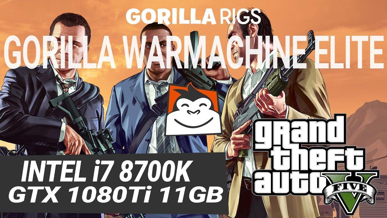 GTA 5 Gameplay,1080Ti, i7-8700K 3 7Ghz, Mega Monkey, FPS Test