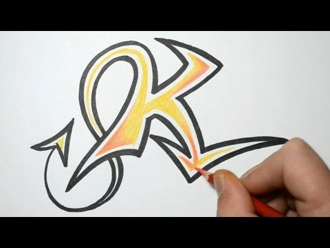 Graffiti Alphabet K Graffiti Letter K Printables