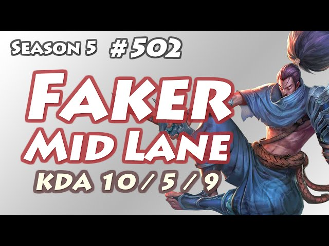 SKT T1 Faker - Yasuo vs Riven - EUW LOL Diamond 1