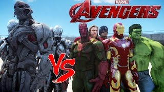 THE AVENGERS VS ULTRON - EPIC BATTLE