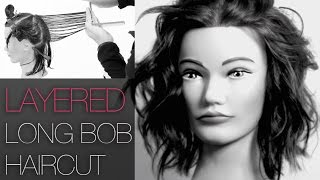 How To Cut a Medium Length Layered Choppy Bob Haircut like Julianne Hough and Khloe Kardashian