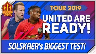 Man Utd vs Tottenham Preview! Solskjaer, Lingard, Chong Player Cams! Manchester United Tour 2019