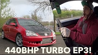 BRUTAL 440 BHP TURBO HONDA CIVIC EP3 CIVIC TYPE R!!!