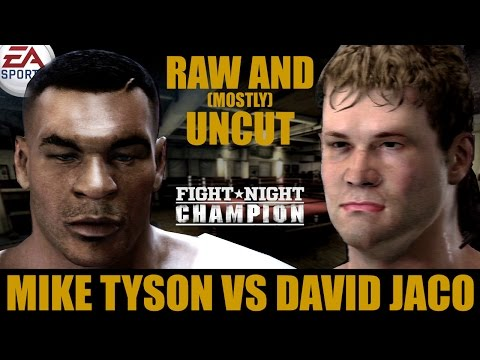 Mike Tyson vs David Jaco ★ Tyson Raw And [Mostly] Uncut ★ Full Fight Night Champion Simulation