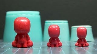How to GROW or SHRINK Silicone Molds! | Make Larger or Smaller Copies of Resin Casts