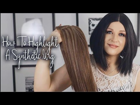 How To Highlight Synthetic Wigs Wig Hack   Synthetic Wig Highlight   How To Make A Wig Look Natural