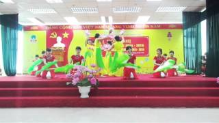 Múa : Việt Nam gấm hoa Lớp CĐ6A11-12 - trường CĐ Dược Phú Thọ
