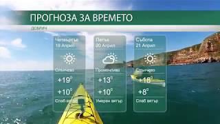 Прогноза за времето на 19-ти, 20-ти и 21-ви Април 2018г.