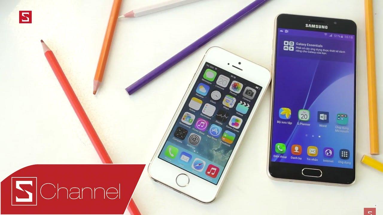 Schannel - iPhone 5s vs Galaxy A5 2016: Đâu là sự lựa chọn hoàn hào trong  tầm giá 9 triệu? - YouTube