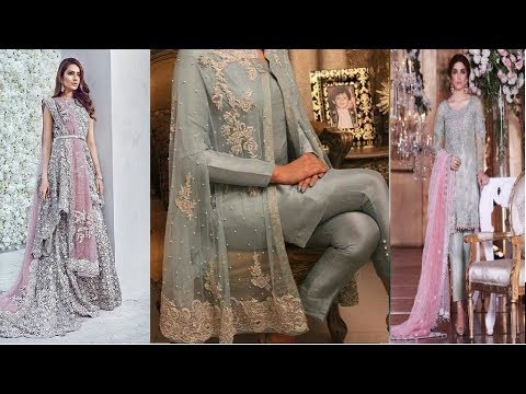 best silver partywear  dresses for girls //pakistani bridal dresses 2017 \ Fashion Alert of 2017