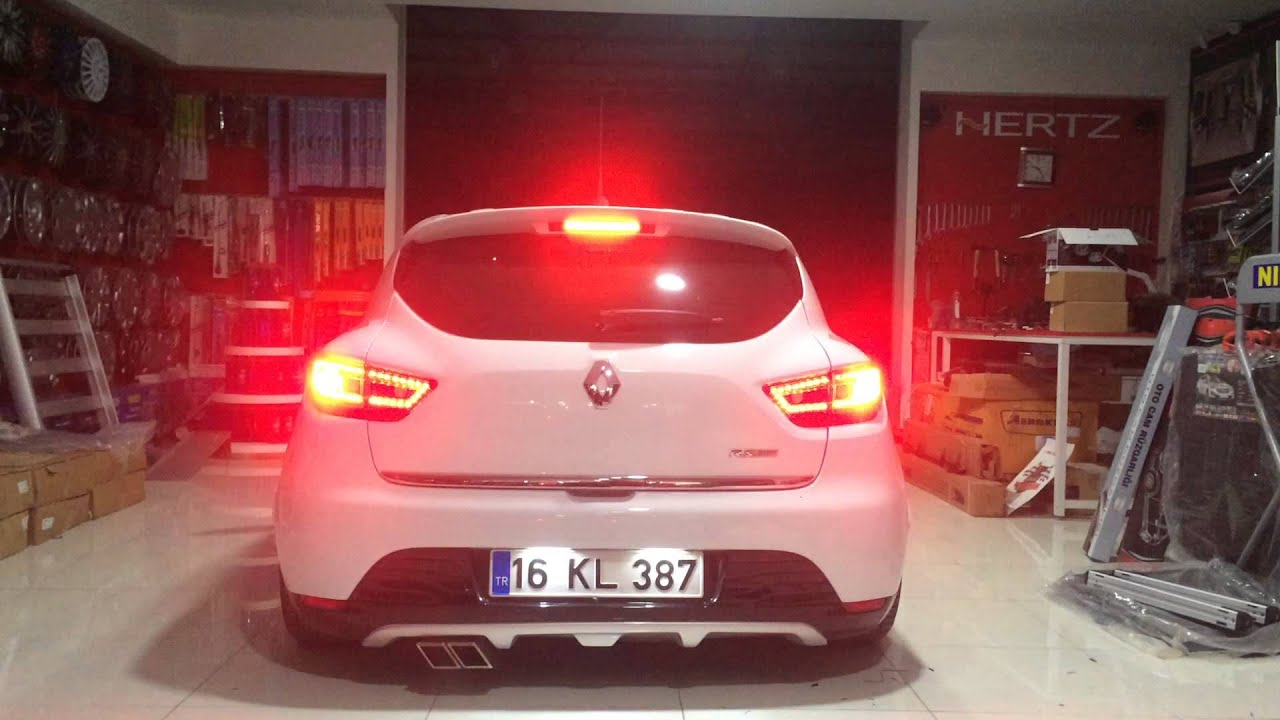 Clio 4 Ledli Stop - YouTube