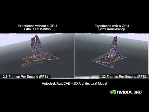XenDesktop Autodesk AutoCAD: CPU Only Vs NVIDIA GRID K2