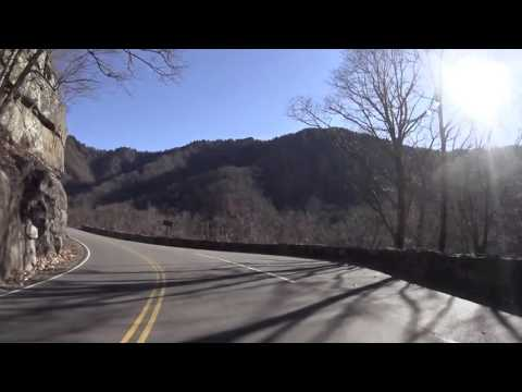 Free Stock Footage - Driving Through Beautiful Mountains