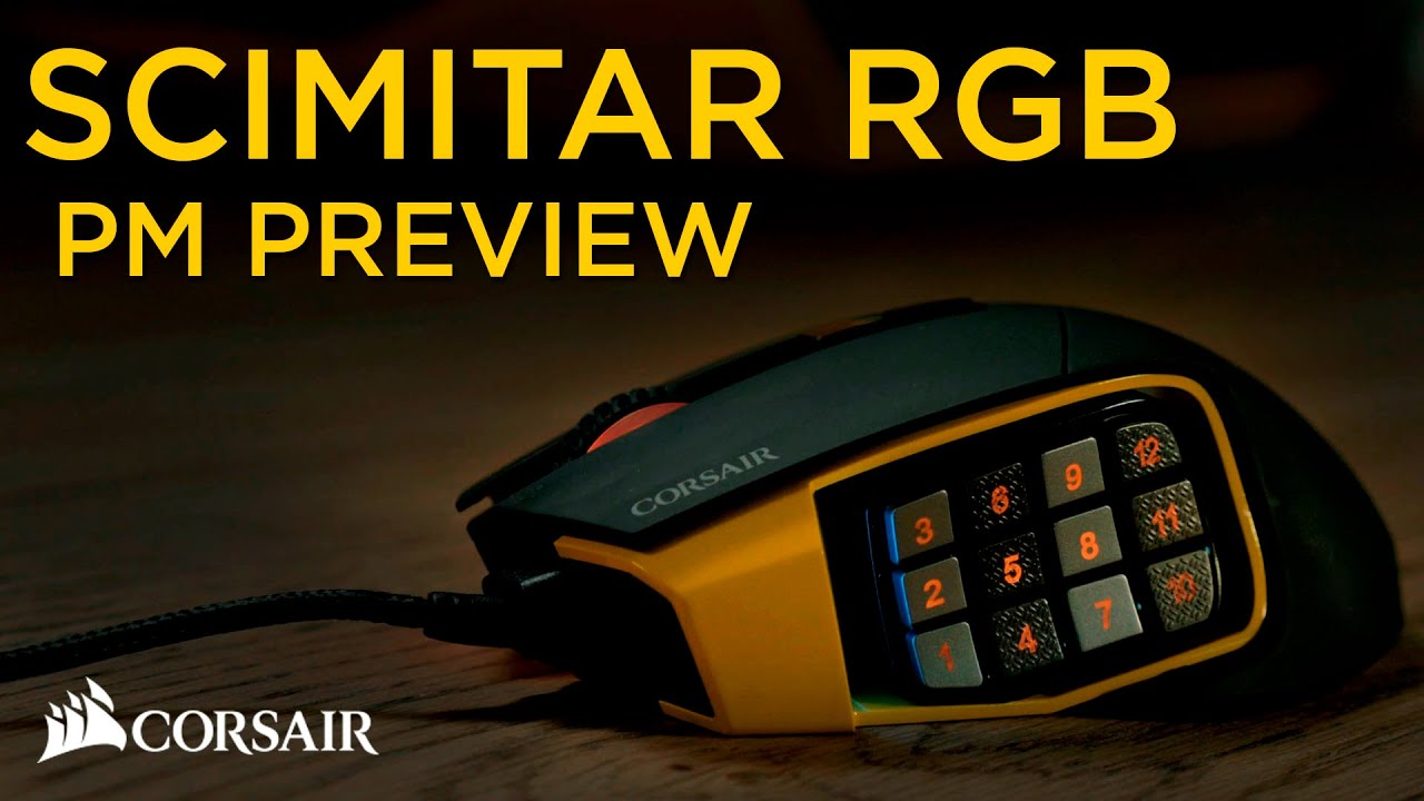 60c5e03476f Corsair Scimitar RGB MOBA/MMO gaming mouse product manager preview ...
