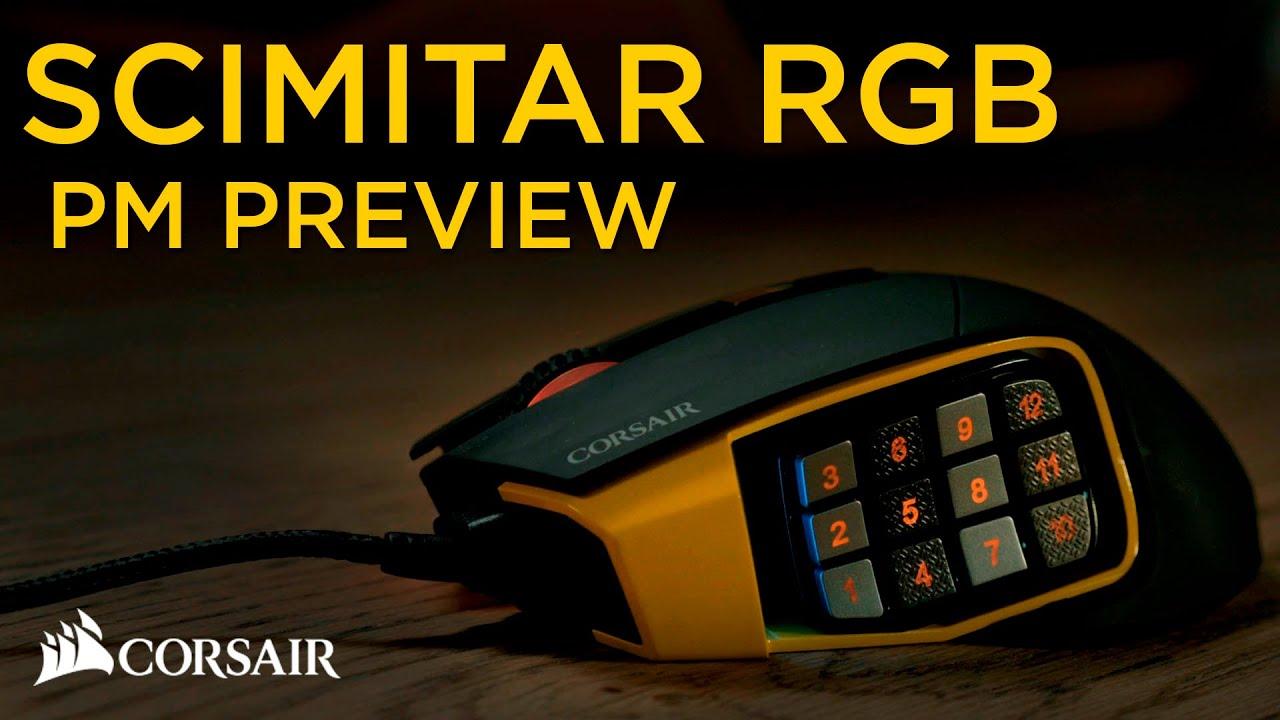scimitar rgb optical moba/mmo gaming mouse