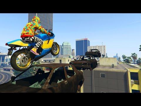 SALTAMOS Y VOLAMOS!!! - CARRERA GTA V ONLINE - GTA 5 ONLINE