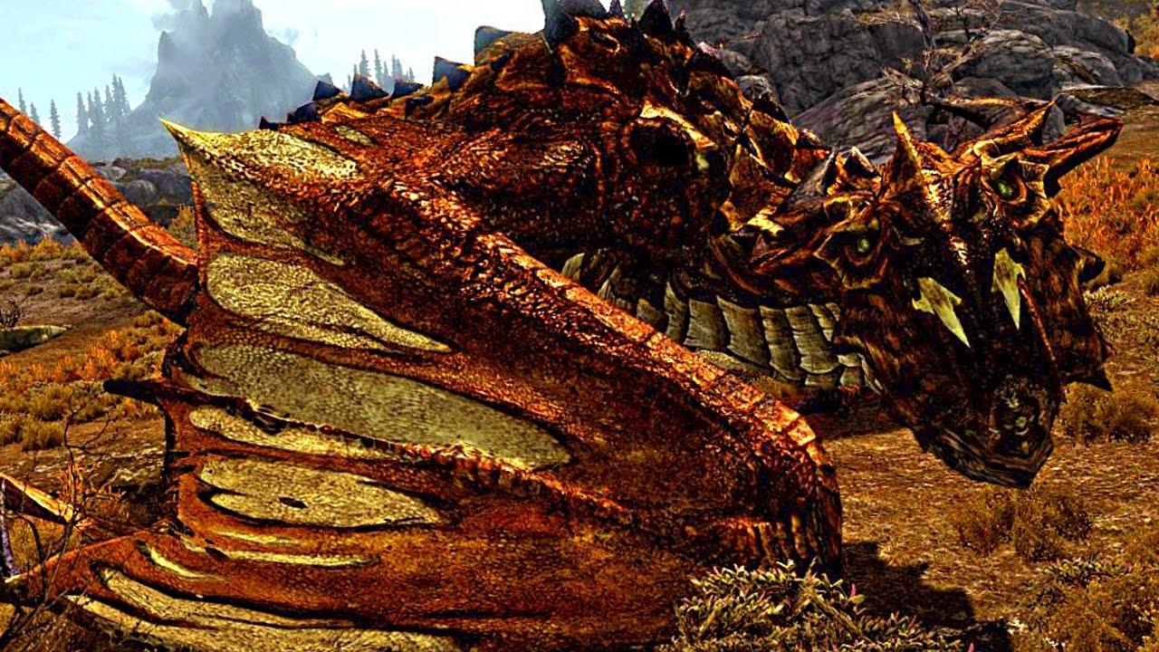 SKYRIM Special Edition: 'VULJOTNAAK' DRAGON Boss Fight ...